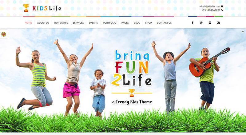 Diseño web para servicios infantiles - GF Webs